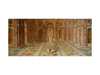 The Ceiling of the Constantine Room: the Fall of the Idols and the Triumph of Christianity--Giclee Print