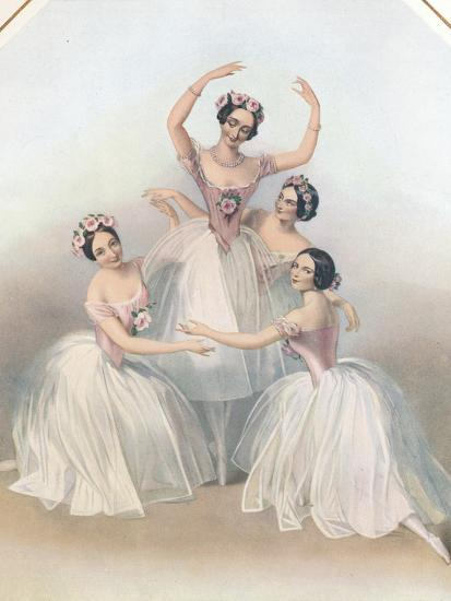 The Celebrated Pas De Quatre: Composed by Jules Perrot, C1850-TH Maguire-Giclee Print