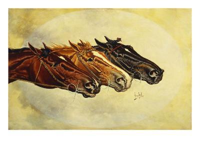 The Celebrated Race Horses 'Henry of Navarre', 'Monitor' and 'Dominoe'-Henry Stull-Giclee Print