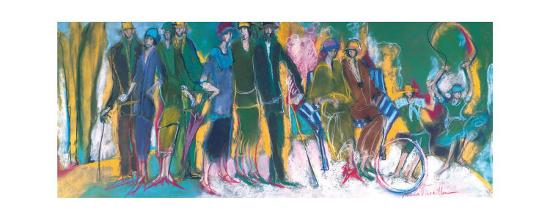 The Celebration in the Park-Marie Versailles-Art Print
