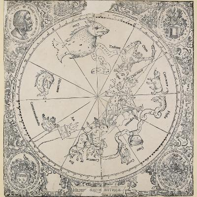 The Celestial Chart of the Southern Hemisphere-Albrecht D?rer-Giclee Print