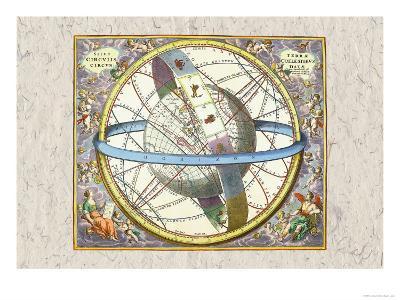 The Celestial Sphere-Andreas Cellarius-Art Print