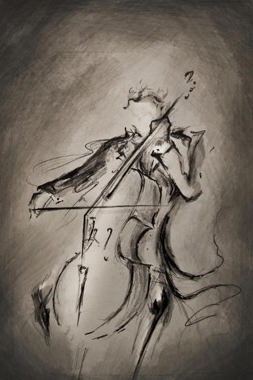 The Cellist-Marc Allante-Giclee Print