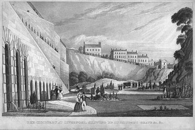 The Cemetery at Liverpool, Shewing Mr Huskisson's Grave Etc, 1831-Thomas Talbot Bury-Giclee Print