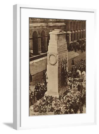 """The Cenotaph, Whitehall, London""--Framed Photographic Print"
