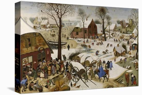 The Census at Bethlehem (The Numbering at Bethlehe), First Third of 17th C-Pieter Brueghel the Younger-Stretched Canvas Print