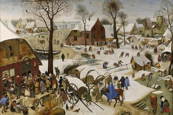 The Census at Bethlehem (The Numbering at Bethlehe), First Third of 17th C-Pieter Brueghel the Younger-Giclee Print