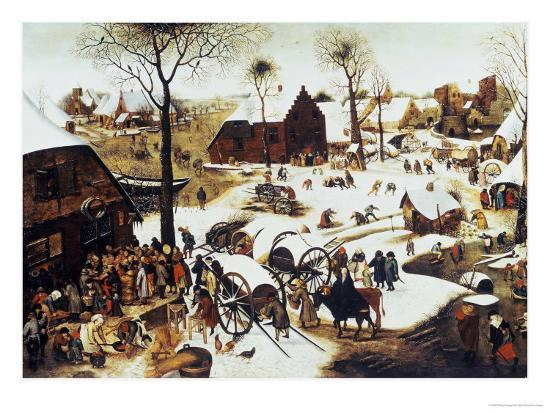 The Census at Bethlehem-Pieter Bruegel the Elder-Giclee Print