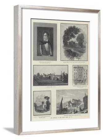 The Centenary of Lord Byron's Birth, 22 January--Framed Giclee Print