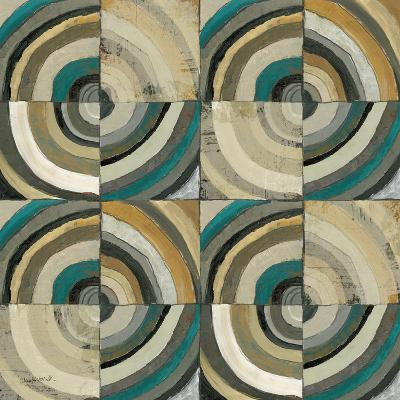 The Center II Abstract Turquoise-Cheryl Warrick-Premium Giclee Print