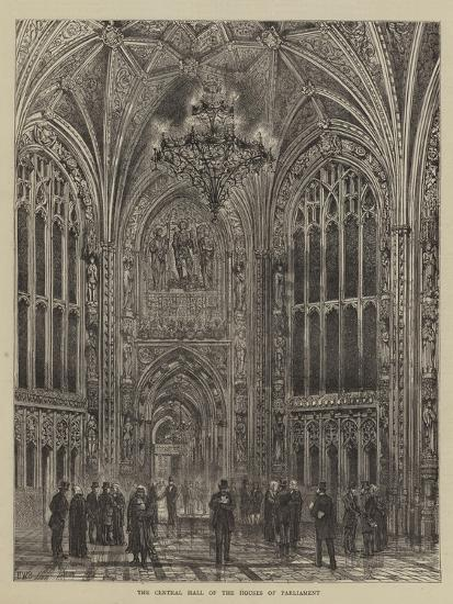 The Central Hall of the Houses of Parliament-Henry William Brewer-Giclee Print
