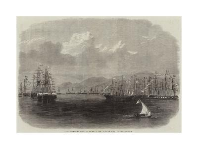 The Ceremonial Fleet at Anchor in the Roads of Suez, Red Sea--Giclee Print