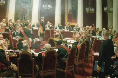 The Ceremonial Session of the State Council of Imperial Russia on May 7, 1901, 1903-Ivan Semyonovich Kulikov-Giclee Print