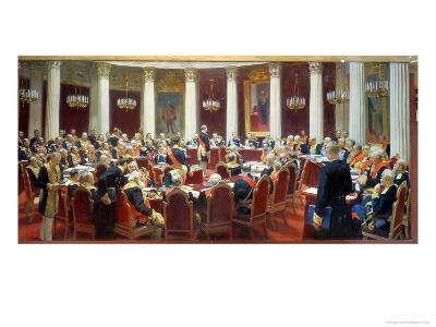 The Ceremonial Sitting of the State Council, 7th May 1901-Ilya Efimovich Repin-Giclee Print