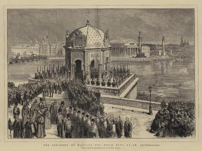 The Ceremony of Blessing the River Neva at St Petersburg--Giclee Print