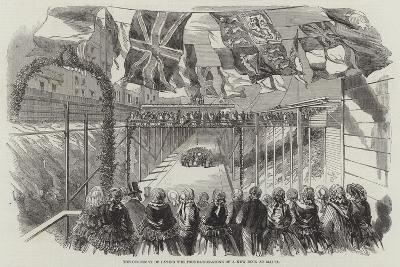 The Ceremony of Laying the Foundation-Stone of a New Dock at Malta--Giclee Print