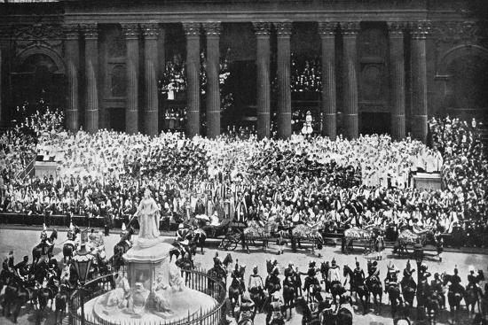 The ceremony of thanksgiving at St Paul's Cathedral, London, June 22nd, 1897. Artist: Unknown-Unknown-Photographic Print