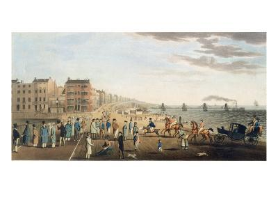 The Chain Pier at Brighton with Characters-G.m. Brighty-Giclee Print