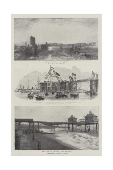 The Chain Pier at Brighton-J^ M^ W^ Turner-Giclee Print