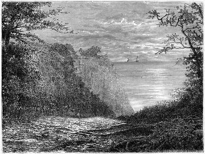The Chalk Cliffs at the Königsstuhl, Rügen, Germany, 19th Century-Francois Stroobant-Giclee Print