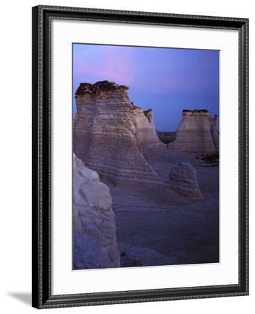 The Chalk Pyramids Monument Rocks National Natural Area Kansas Usa Photographic Print Charles Gurche Art Com