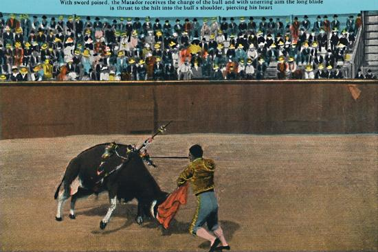 'The Challenge of the Matador, Plaza De Toros', c1939-Unknown-Giclee Print