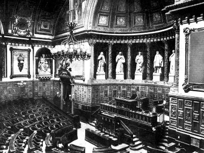 The Chamber of the French Senate, Paris, France, 1926--Giclee Print