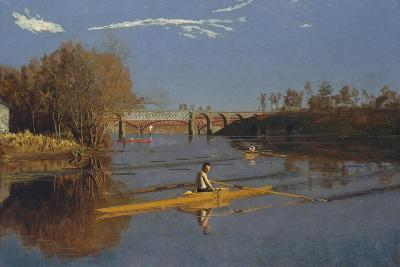The Champion Single Sculls (Max Schmitt in a Single Scull), 1871-Thomas Cowperthwait Eakins-Giclee Print