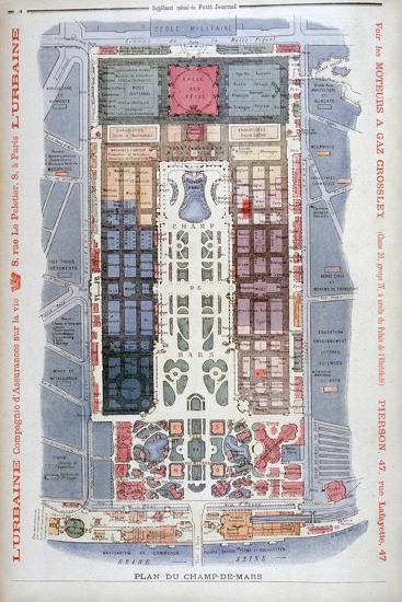 The Champs De Mars, Universal Exhibition of 1900, Paris, 1900-G Rochet-Giclee Print