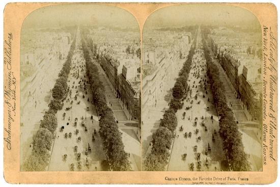 The Champs Elysees, Paris, France, 1894-Underwood & Underwood-Giclee Print