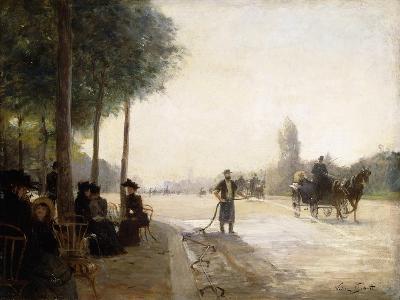 The Champs Elysees, Paris-Victor Gabriel Gilbert-Giclee Print