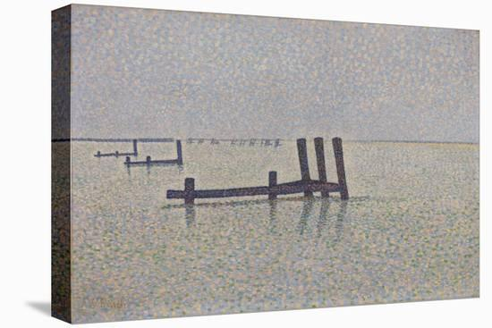 The Channel at Nieuwpoort, C. 1889-Alfred William Finch-Stretched Canvas Print