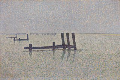 The Channel at Nieuwpoort, C. 1889-Alfred William Finch-Giclee Print