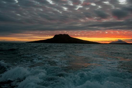The Channel Between Sombrero Chino Island and Santiago Island in the Galapagos at Sunset-Karen Kasmauski-Photographic Print