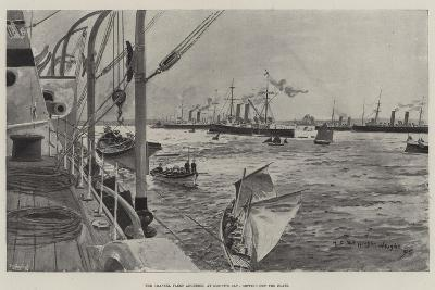 The Channel Fleet Anchored at Mount's Bay, Getting Out the Boats-Henry Charles Seppings Wright-Giclee Print