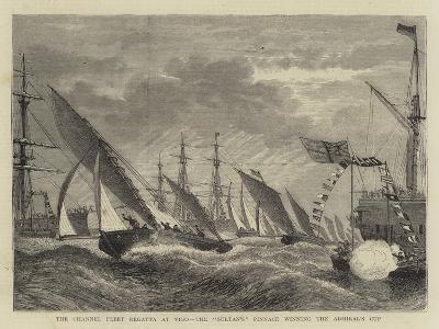 The Channel Fleet Regatta at Vigo, the Sultan'S Pinnace Winning the Admiral's Cup--Giclee Print