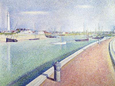 The Channel of Gravelines, Petit Fort Philippe, 1890-Georges Seurat-Giclee Print