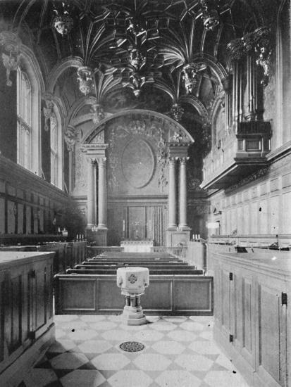 'The Chapel, Hampton Court Palace', 1903-Unknown-Giclee Print