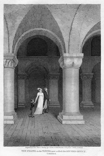 The Chapel in the Tower, Now Called the Record Office, Tower of London, 1809-J Lee-Giclee Print
