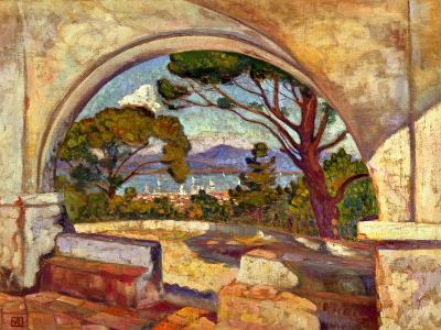 The Chapel of St, Anne, Saint Tropez, C. 1920-Theo van Rysselberghe-Giclee Print