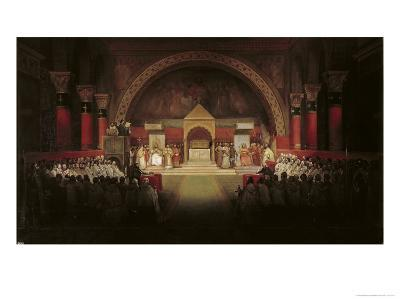 The Chapter Assembly of the Templars-Francois-Marius Granet-Giclee Print