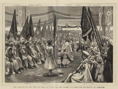 The Chapter of the Star of India at Calcutta, the Prince Investing the Maharajah of Jodhpore-Joseph Nash-Giclee Print