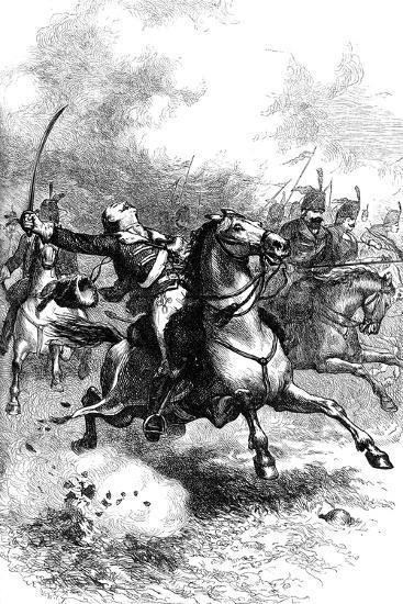 The Charge of Pulaski, C1880--Giclee Print