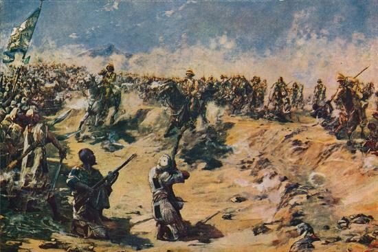 'The Charge of the 21st Lancers at Omdurman, 1898' (1906)-Unknown-Giclee Print
