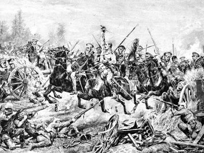 The Charge of the 9th Lancers at a German Battery Near Mons--Photographic Print