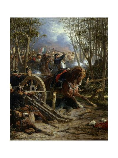 The Charge of the French Cuirassiers at Reichshof-Adolphe Yvon-Giclee Print