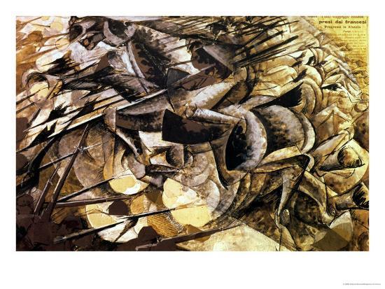 The Charge of the Lancers, 1915-Umberto Boccioni-Giclee Print