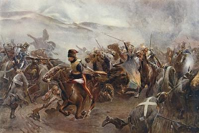 The Charge of the Light Brigade at the Battle of Balaclava on 25th October, 1854, Illustration…-Christopher Clark-Giclee Print