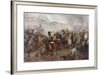 The Charge of the Light Brigade at the Battle of Balaclava on 25th October, 1854, Illustration…-Christopher Clark-Framed Giclee Print