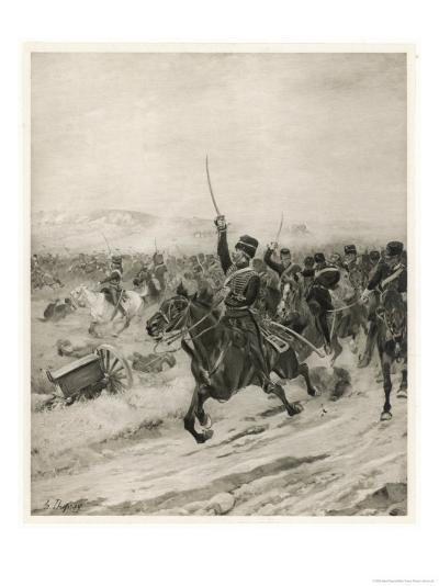 The Charge of the Light Brigade, into the Valley of Death!-Henri Dupray-Giclee Print